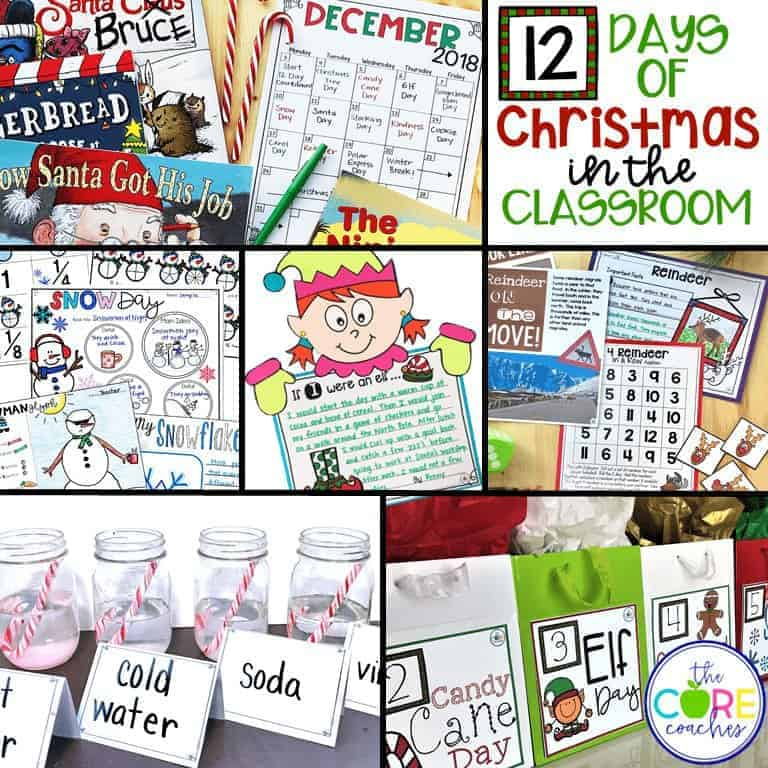 12 Days of Christmas in the Classroom Activities