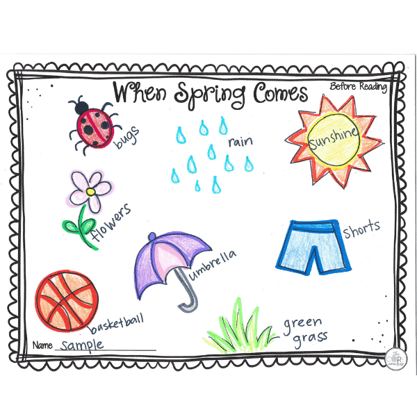 When Spring Comes Interactive Read-Aloud