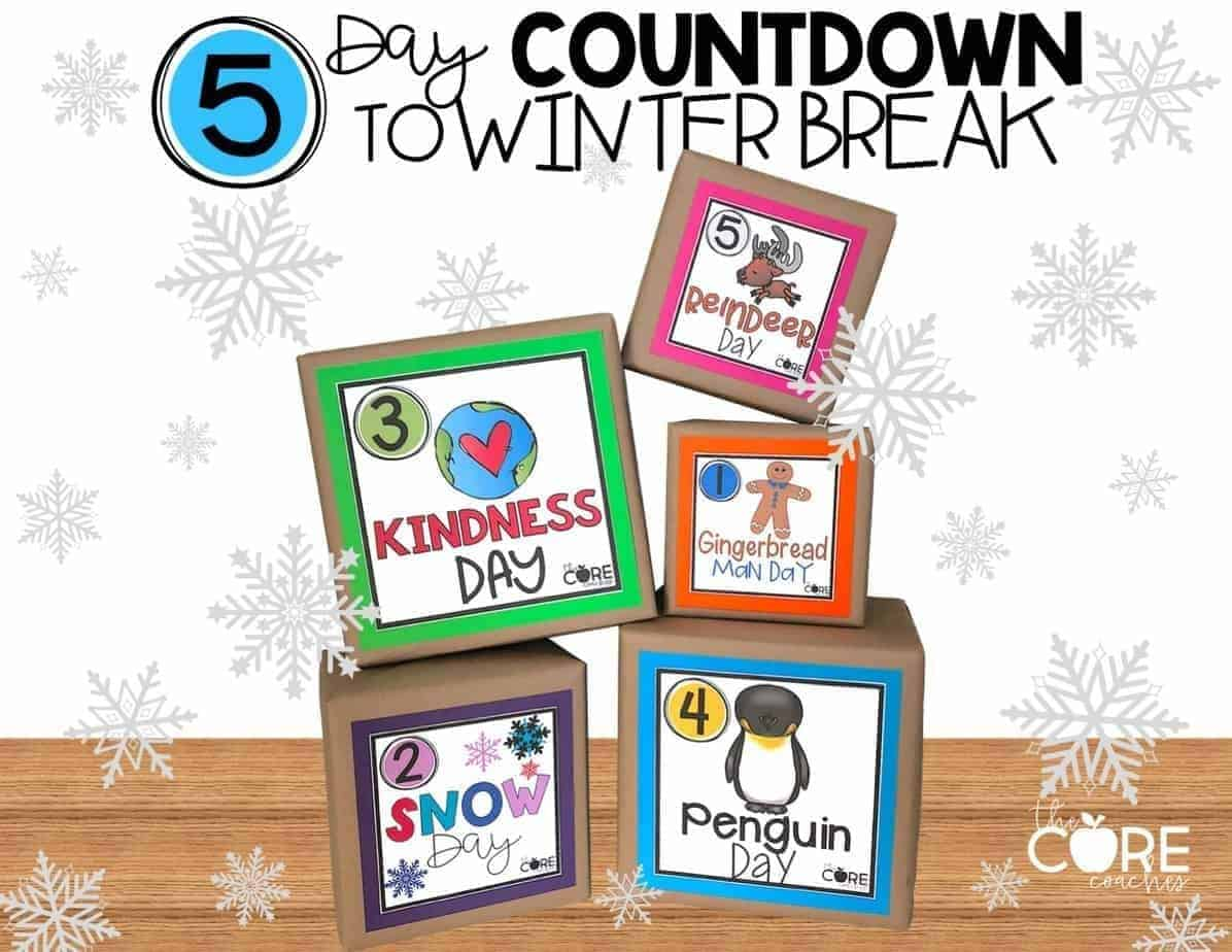 5 Day Classroom Countdown To Winter Break!