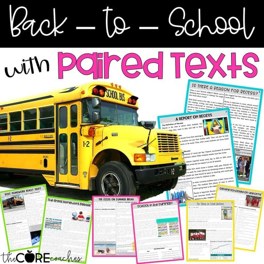 Back To School With Paired Texts