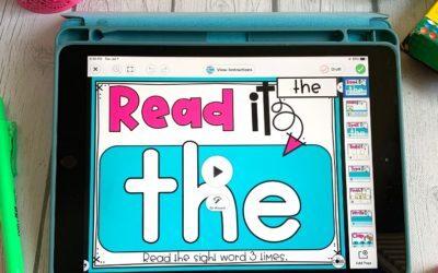 Digital Sight Word Activities