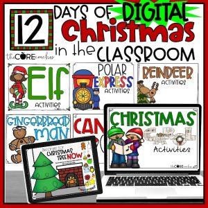 Digital 12 Days Of Christmas Activities Bundle