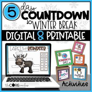 Winter 5 Day Countdown Digital And Printable Bundle