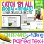 Pokemon Go - Print Or Digital Paired Text Passages & Writing