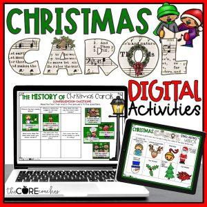 Christmas Carol Songs Themed Digital Activities