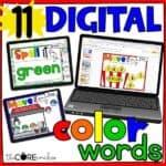 Digital Color Word Practice