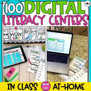 Digital Literacy Centers | 100 Center Activities Bundle