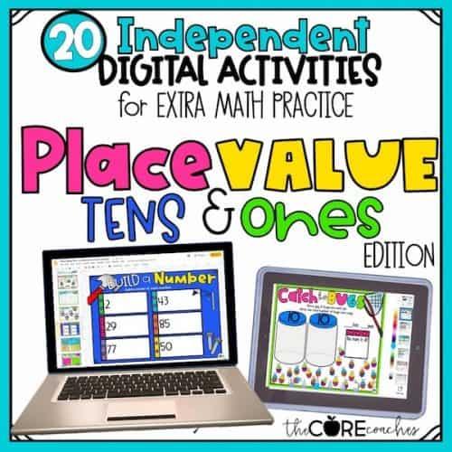 Digital Math Practice - Place Value- Tens & Ones