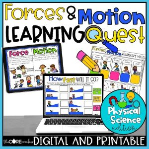 Forces And Motion Activities + Worksheets | Independent Learning Quest