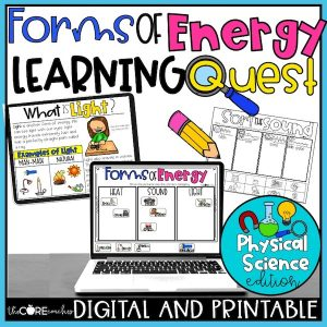 Forms Of Energy Learning Quests: Heat, Light, And Sound