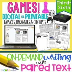 Digital Paired Text Passages & Opinion Writing