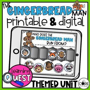 Gingerbread Man - Printable And Digital
