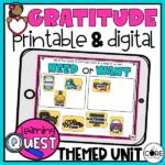 Digital Gratitude Thankful Activities For November