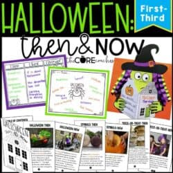 Halloween Then And Now- Reading, Writing, And Art With A Printable Text (1-3)