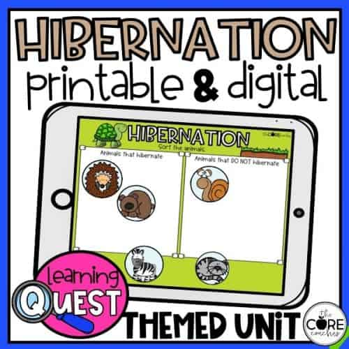 Digital Hibernation Science Activities For November