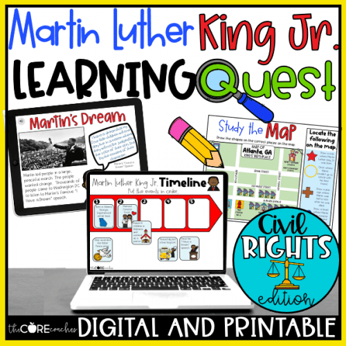 Martin Luther King Jr. Learning Quest & Activities