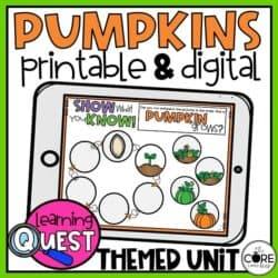 Digital Pumpkin Activities