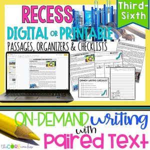 Recess - Print Or Digital Paired Text Passages & Opinion Writing