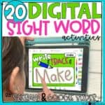 Digital Sight Word Activities For ANY Sight Word