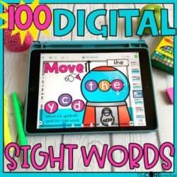 Digital Sight Words Fry's 1-100