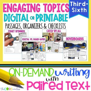 Engaging Topics Bundle | Digital Paired Text Passages