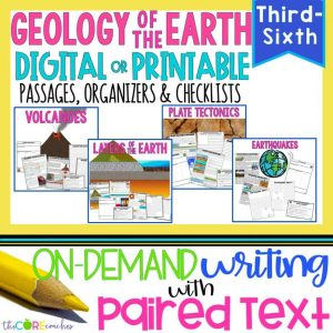 Geology Paired Passages & Writing Bundle