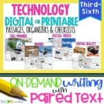 Technology Paired Text Passages & Writing Bundle