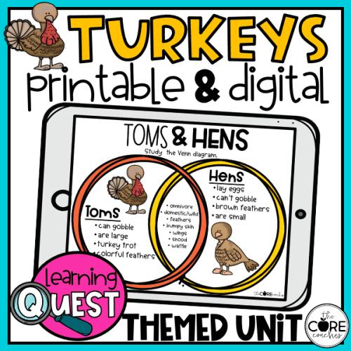 Digital Turkeys Science Activities For November