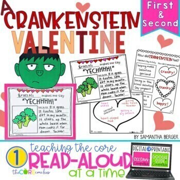 A Crankenstein Valentine: Interactive Read-Aloud Lesson Plans And Activities