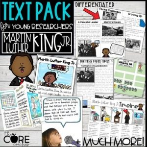 Black History Research Project | Martin Luther King Jr. Printable Texts