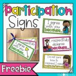 Freebies Participation Signs Checking for Understanding