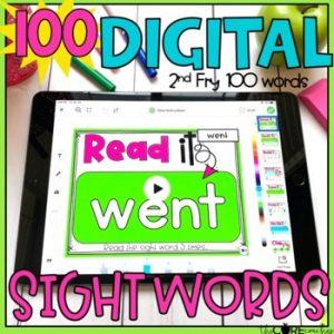 Digital Sight Word Activities For 2nd Grade