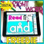 FREEBIE Digital Sight Words