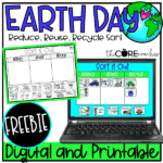 Earth Day Reduce, Reuse, Recycle Sort