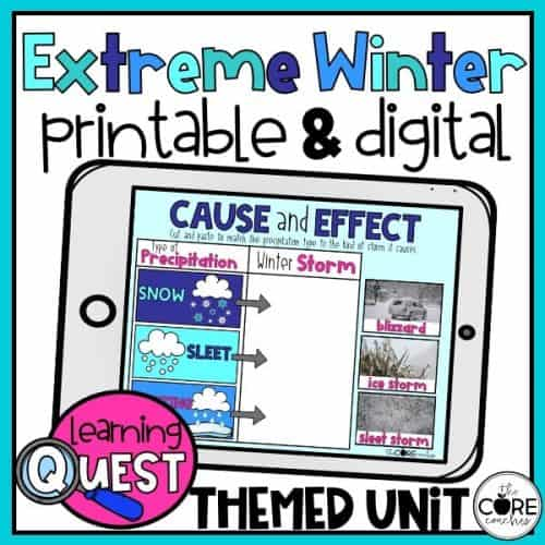 Digital Winter Weather Activities For Winter   Distance Learning