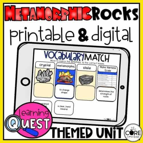 Metamorphic Rocks Lesson Plan