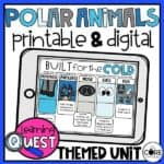 Digital Polar Animals Activities For Winter | Distance Learning