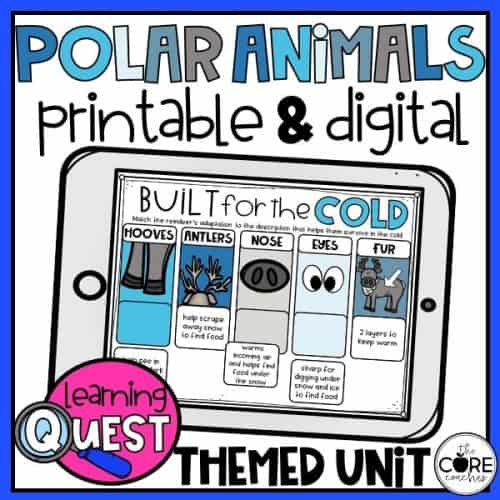 Digital Polar Animals Activities For Winter   Distance Learning