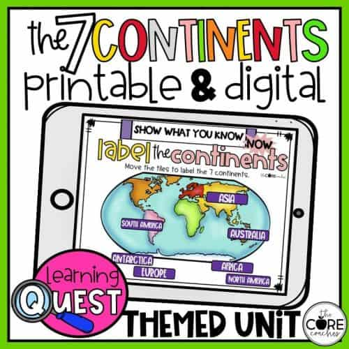 7 Continents Mapping Activities