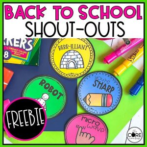 back to school shout outs