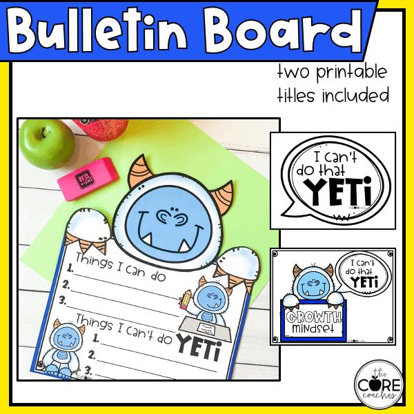 growth mindset 4 bulletin board