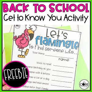Back To School - Flamingly Get to Know You