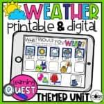 Weather Worksheets For 1st Grade