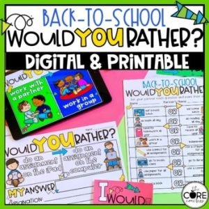 'Get To Know You' Game – First Week Of School