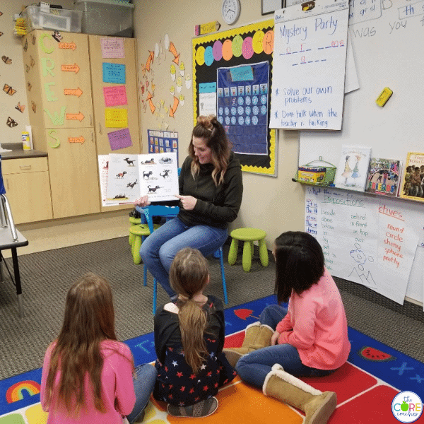teacher reading aloud