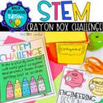 Crayon box STEM challenge for 1st and 2nd graders