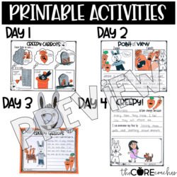 Creepy Carrots Read Aloud Lesson & Activities
